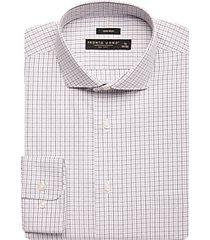 pronto uomo black & gray grid dress shirt
