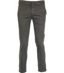 dondup alfredo grey mouse pant trouser