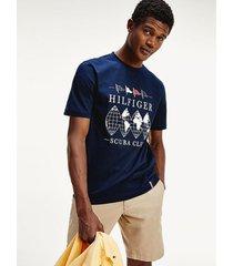 camiseta de corte amplio con logo scuba club azul tommy hilfiger