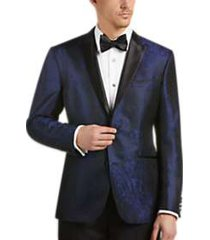 awearness kenneth cole blue jacquard slim fit dinner jacket