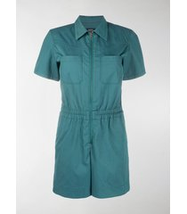 a.p.c. zip-up short sleeve playsuit