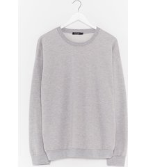 womens where there's a chill oversized sweatshirt - grey marl