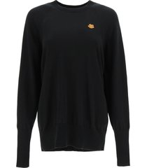 kenzo oversized tiger patch sweater