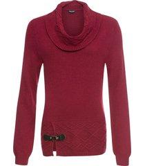 maglione con collo a ciambella (rosso) - bodyflirt boutique