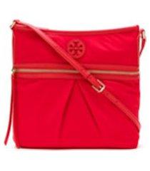 tory burch bolsa tiracolo tilda em nylon - vermelho