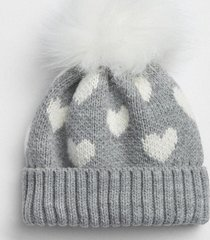 gorro corazon toddler girls gris gap