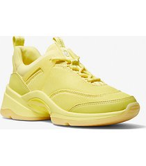 mk sneaker sparks in materiale misto - limelight - michael kors