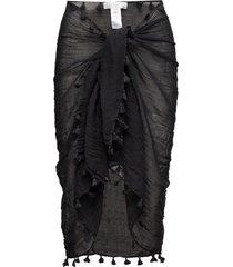 cotton gauze sarong beach wear svart seafolly
