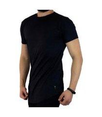 camiseta vcstilo longline barra arredondada masculina