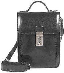 l.a.p.a. designer briefcases, black leather vertical briefcase