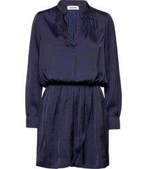 rinka satin dress dresses everyday dresses blå zadig & voltaire