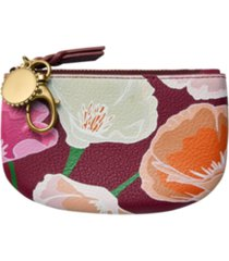 fossil polly leather zip pouch