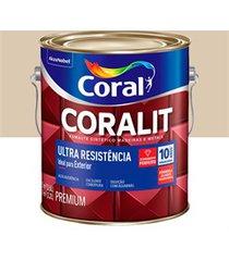 tinta esmalte sintético premium brilhante coralit tradicional areia 3,6 litros