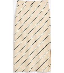 lou & grey lou & grey striped cozy jersey midi skirt