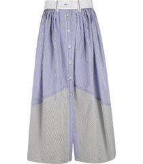 chloé stripe print skirt
