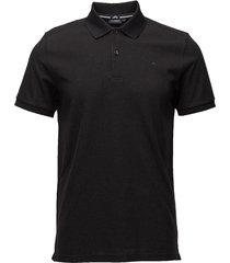 troy clean pique polos short-sleeved zwart j. lindeberg