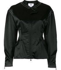 marine serre cinched waist fitted jacket - black