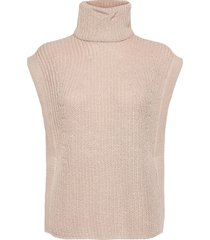 objbirgitha knit waistcoat pb10 vests knitted vests beige object