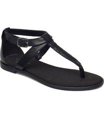 bay post shoes summer shoes flat sandals svart clarks