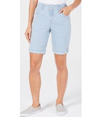 style & co petite railroad cuffed jean shorts, created for macy's