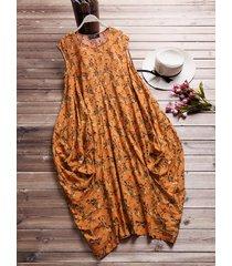 vestito lungo largo floreale