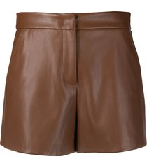 blanca vita sandra faux-leather shorts - brown