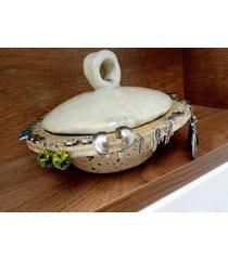 misa na kolczyki, ceramiczna, ręcznie robiona