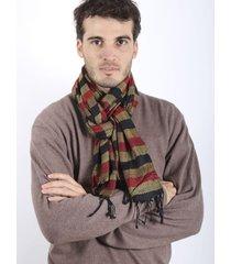 bufanda dorada spiga 31 rayas