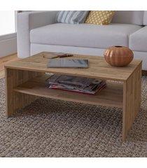 mesa de centro austin 1 prateleira rustico - artely