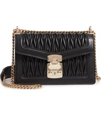 miu miu matelasse leather crossbody bag - black