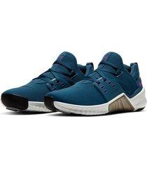 zapatillas de dama nike flex control tr4-azul