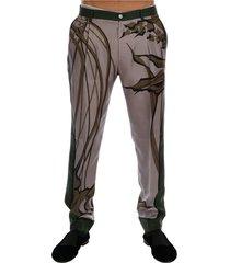 druk van bladeren jurk formal broek