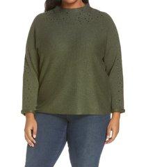 plus size women's nic+zoe shine for me sweater