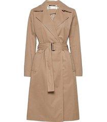 yumaiw coat trenchcoat lange jas beige inwear