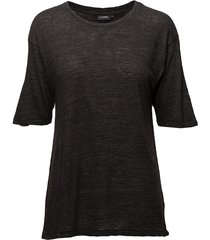 rhonda wool jersey t-shirts & tops short-sleeved zwart j. lindeberg