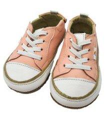 sapatenis de couro lala lipe alice skipe rosa v21 8 - rosa claro - 14 rosa