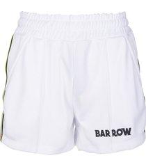 barrow white logo-embellished shorts woman