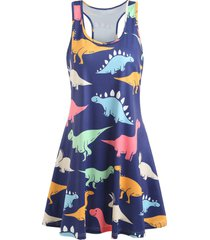 dinosaur swing tank dress