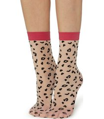 calzedonia animal print socks woman black size tu