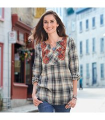 plaid pleasures top