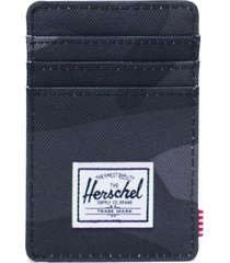 men's herschel supply co. raven card case - black