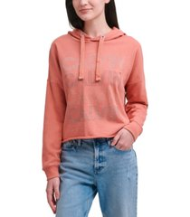 calvin klein jeans rhinestuds stacked pullover top