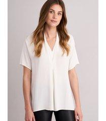 blouse met v-hals en lovertjes