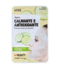 kiss new york pepino calmante e antioxidante máscara facial 20ml