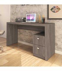mesa para escritório 2 gavetas carvalho me4130 - tecno mobili