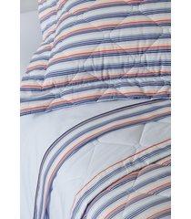 colcha com porta travesseiro matelada 200 fios michel - scavone - azul - dafiti