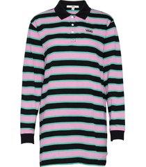 stripe polo dress kort klänning svart vans