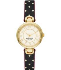 kate spade new york rainey park dot reversible leather watch, 30mm