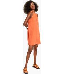 bar iii chiffon halter trapeze dress, created for macy's