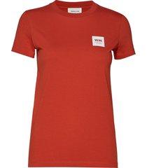 eden t-shirt t-shirts & tops short-sleeved röd wood wood